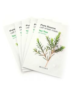 Missha Pure Source Tea Tree Sheet Mask 19g x 5