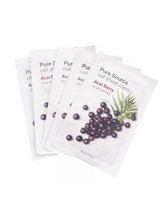Missha Pure Source Cell Acai Berry Sheet Mask 19g x 5